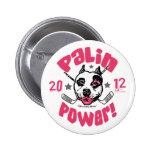 Palin Power Hockey Mom 2012 Pinback Buttons