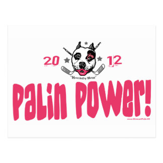 Palin Power Hockey Mom 2012 Postcard
