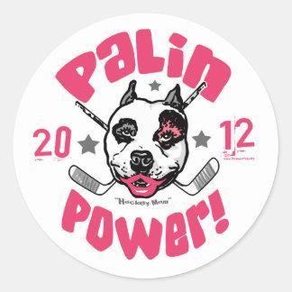 Palin Power Hockey Mom 2012 Round Stickers