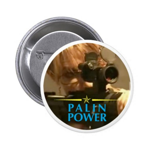 Palin Power Pinback Buttons