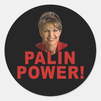 Palin Power! Sarah Palin T shirts and Apparel Classic Round Sticker