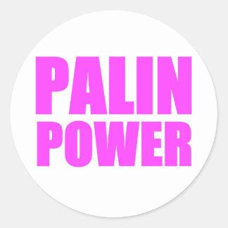 Palin Power, Sarah Palin Tshirts Classic Round Sticker