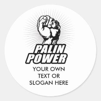 Palin Power Round Stickers