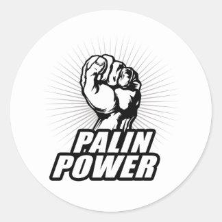 Palin Power Round Sticker