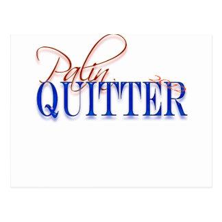 Palin quitter post card