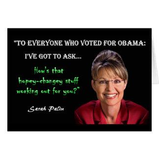 Palin Quote - Hopey Changey Stuff Card
