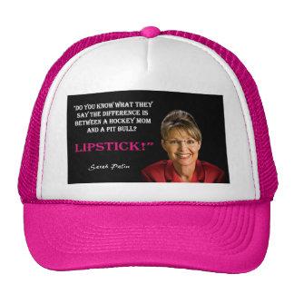 Palin Quote - Pit Bull Trucker Hat