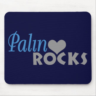 Palin Rocks My Heart Mouse Pad