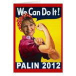 Palin Rosie 2012 el poster del remachador Tarjetas