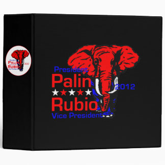 Palin Rubio 2012 Avery Binder