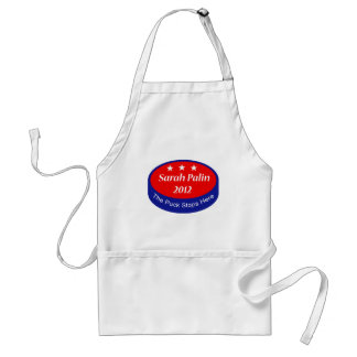 Palin The puck stops here Adult Apron