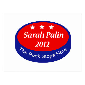 Palin The puck stops here Postcard