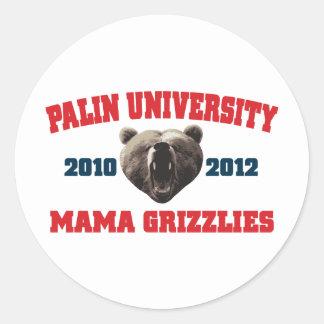 Palin University Mama Grizzlies Stickers