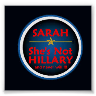 Palin VP HILLARY Poster