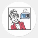 Palin y Fred Etiquetas