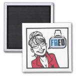 Palin y Fred Imán Para Frigorífico