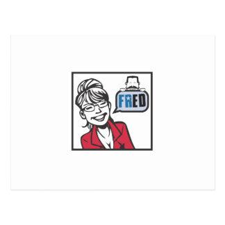 Palin y Fred Tarjeta Postal