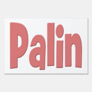 Palin Yard Sign - pink