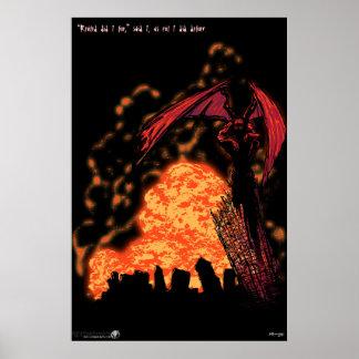 Palindrome del demonio colosal póster