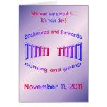 Palindrome del feliz cumpleaños 11-11-11 felicitaciones