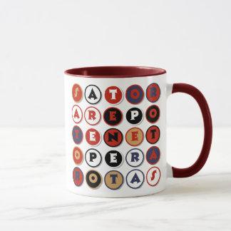 Palindrome latino famoso fresco taza
