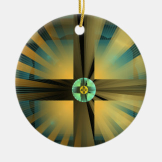 palindromic -Symmetrical-Poster-Available Double-Sided Ceramic Round Christmas Ornament