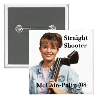 Palingun, McCain-Palin '08, Shooter, Straight Pinback Button