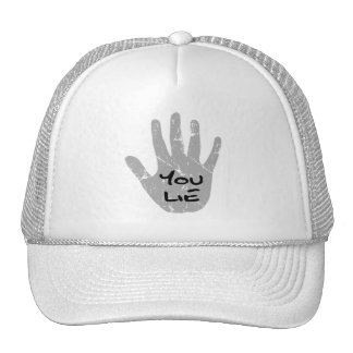 Palin's Hand Teleprompter - You Lie Trucker Hats