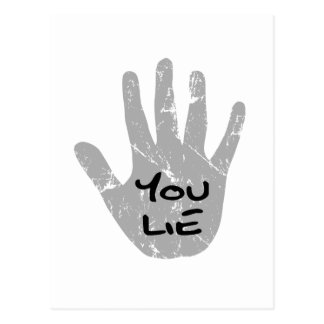 Palin's Hand Teleprompter - You Lie Postcard