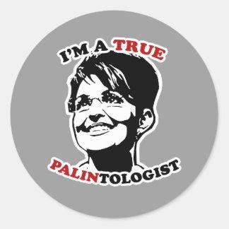 PALINtologist Classic Round Sticker