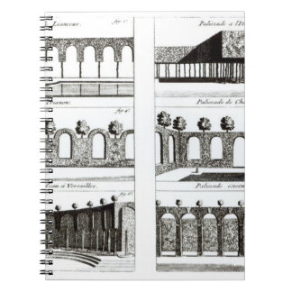 Palisade designs, from 'Theory and Practice of Gar Notebook