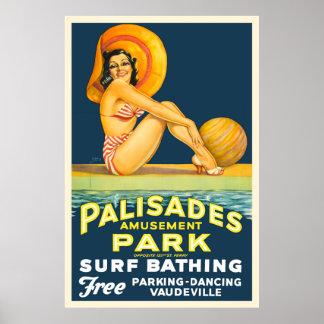 Palisades Amusement Park - Vintage 1937 Poster