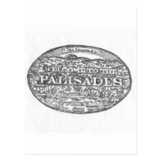Palisades Community Hand sketched logo for the loc Postcard
