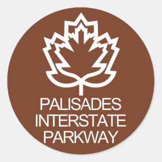 Palisades Interstate Parkway Sign, USA Classic Round Sticker