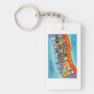 Palisades New Jersey NJ Vintage Travel Postcard- Keychain