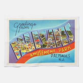 Palisades New Jersey NJ Vintage Travel Postcard- Kitchen Towel