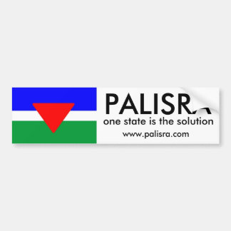 PALISRA Flag, one state is the solutio... Car Bumper Sticker