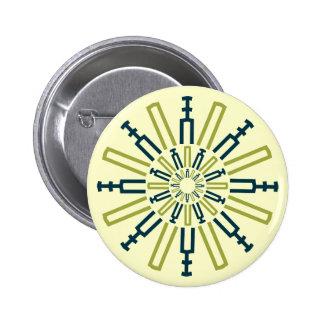Palitroques verdes. Button Pin Redondo De 2 Pulgadas