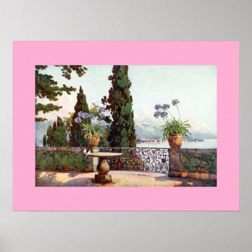 Pallanza de Isola Bella Lago Maggiore, 1918 Poster