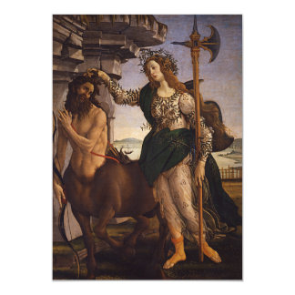 Pallas and the Centaur by Botticelli Card