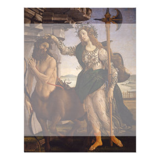Pallas and the Centaur by Botticelli Flyer Design