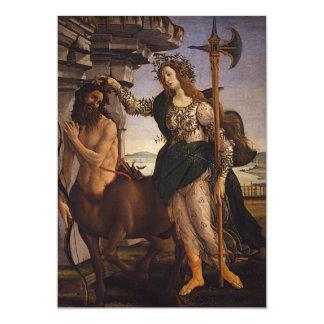 Pallas and the Centaur by Botticelli Custom Invitation
