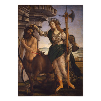 Pallas and the Centaur by Botticelli Photographic Print