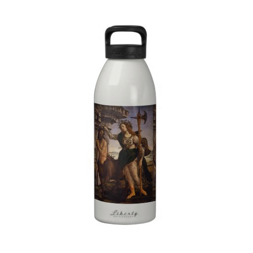 Pallas and the Centaur by Botticelli Water Bottles