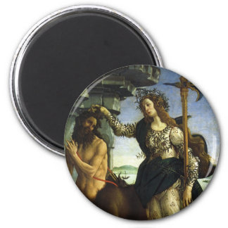 Pallas and the Centaur by Sandro Botticelli 2 Inch Round Magnet