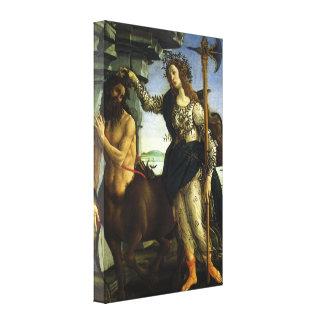 Pallas and the Centaur by Sandro Botticelli Canvas Print