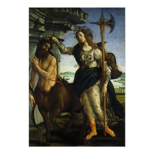 Pallas and the Centaur by Sandro Botticelli Poster