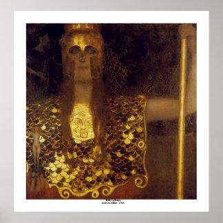 Pallas Athena de Gustavo Klimt Póster