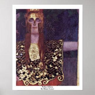 Pallas Athena de Klimt Gustavo Impresiones