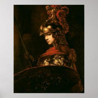 Pallas Athena o, figura acorazada, 1664-65 Póster